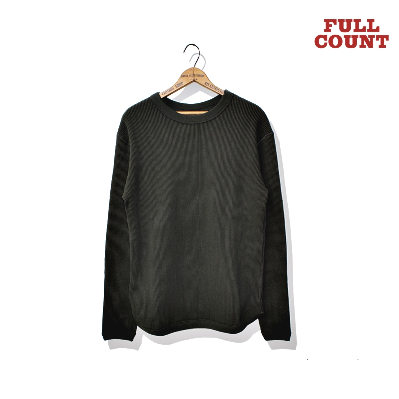 HEAVY WEIGHT WAFFLE LONG SLEEVE T-SHIRTS:KHAKI