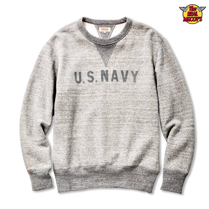 MILITARY PRINT SWEATSHIRT / U.S. NAVY REFLECTOR