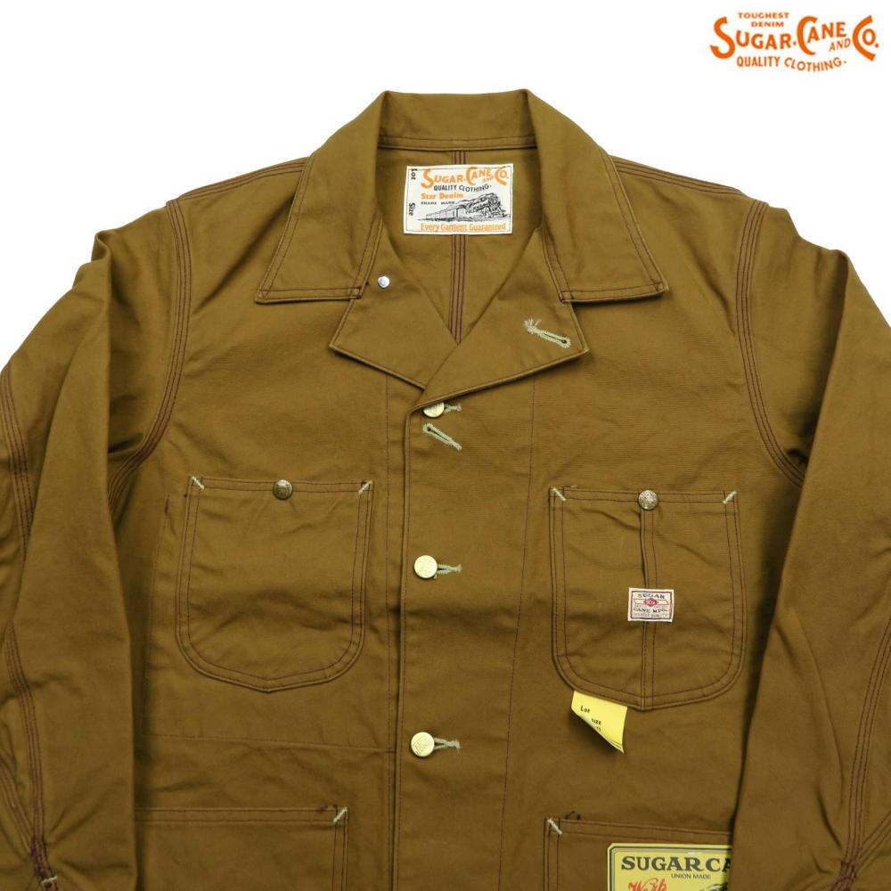 SUGAR CANE シュガーケーン 13oz. BROWN DUCK WORK COAT