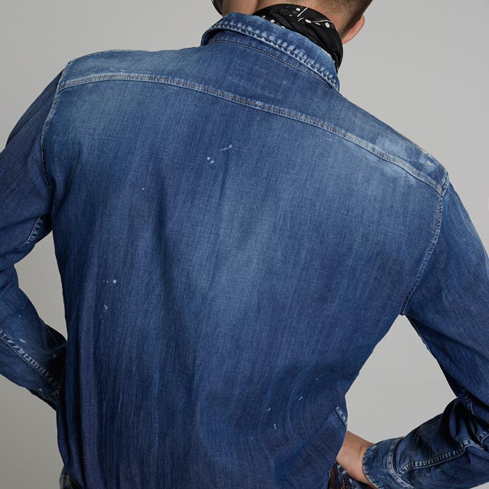 DSQUARED2 Medium Relax Dan Denim Shirt (S74DM0354)