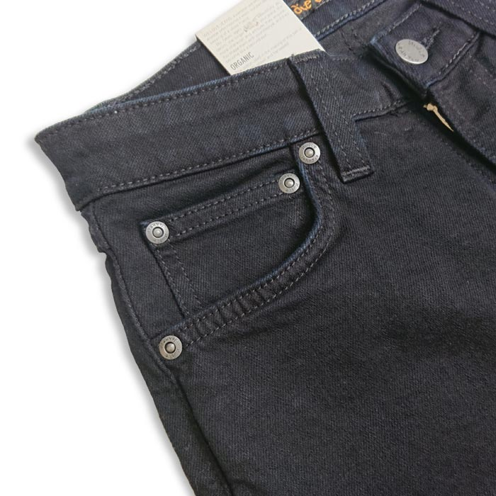 nudie jeans(ヌーディ―ジーンズ)/SKINNY LIN スキニーリン :ブラック