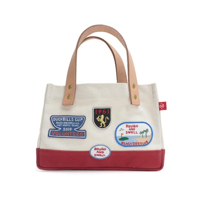 rough & swell PATCH TOTE RED (RSA-19011)