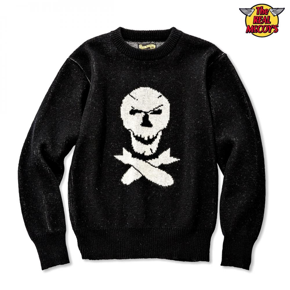 【2018秋冬】MILITARY JAQUARD SWEATER / JOLLY ROGER