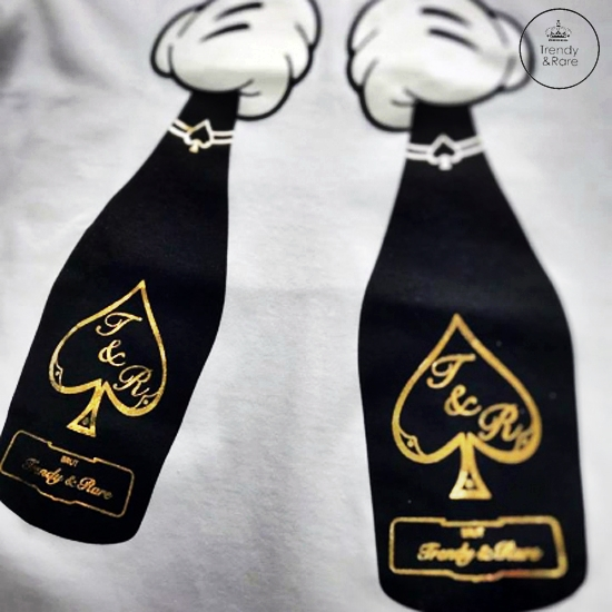 Trendy & Rare(トレンディ&レア) T-shirt ACE GOLD White
