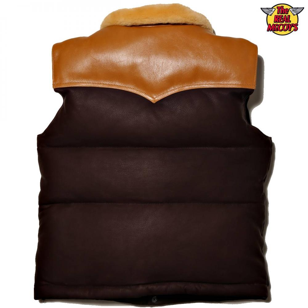 【2019秋冬商品】MOUTON COLLAR LEATHER DOWN VEST