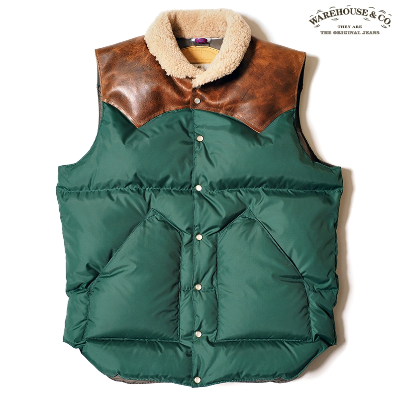 ROCKY MOUNTAIN×WAREHOUSE & CO.CHRISTY VEST:パイングリーン
