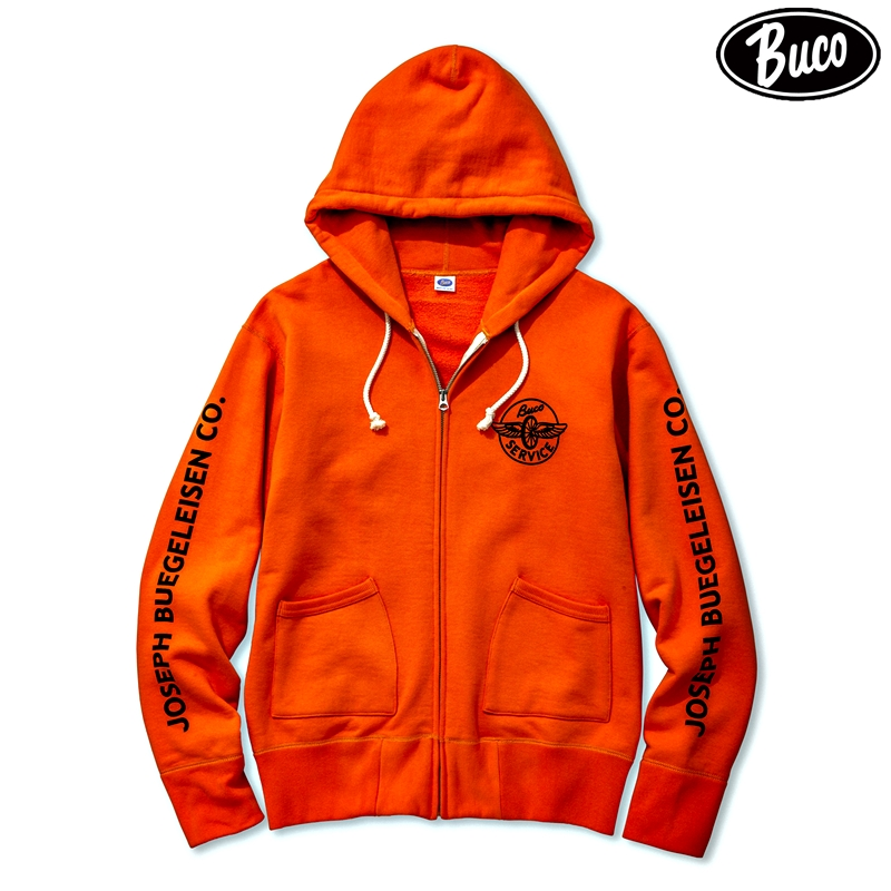 【2018秋冬商品】BUCO F/Z SWEATSHIRT / ENGINEER:ORANGE