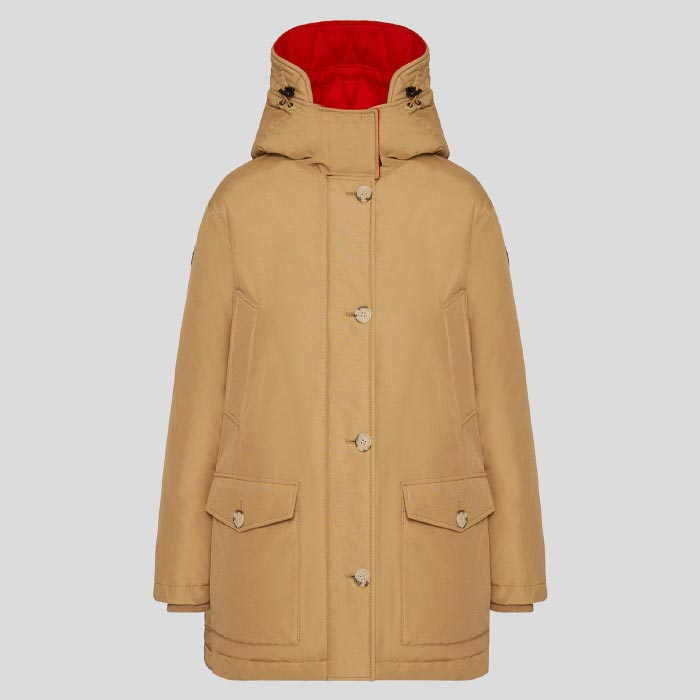 WOOLRICH REVERSIBLE PARKA NF (WWCPS2768)GOLD KHAKI