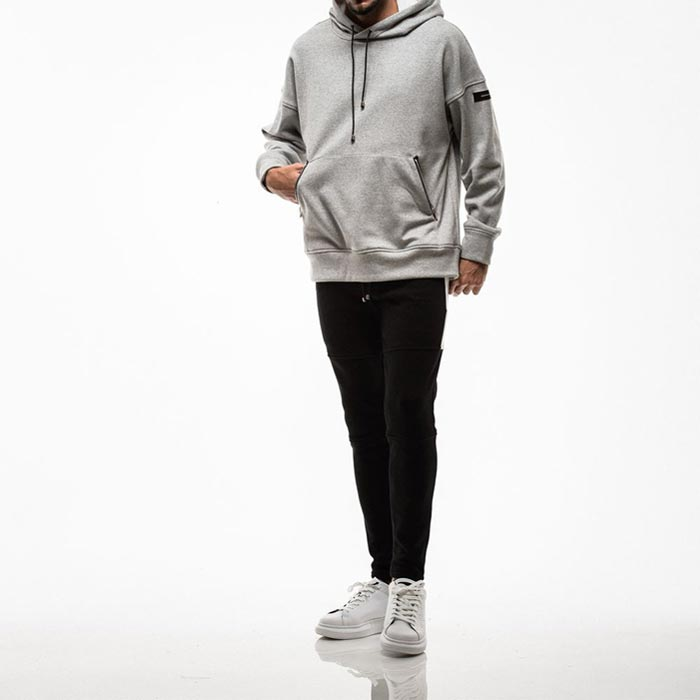 RESOUND CLOTHING /(RC18-ST-012)LINE FLEECE SWEAT PT:BLK