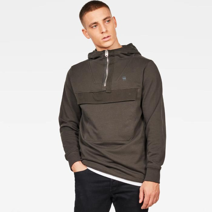 G-STAR RAW Anorak Half Zip Hooded Sweater (D15638-B782)