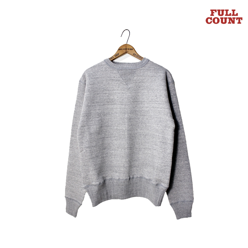 DOUBLE V SET IN SLEEVE MOTHER COTTON:HEATHER GRAY